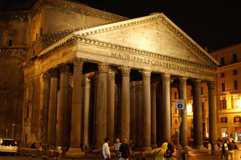 Pantheon in Rome bij nacht